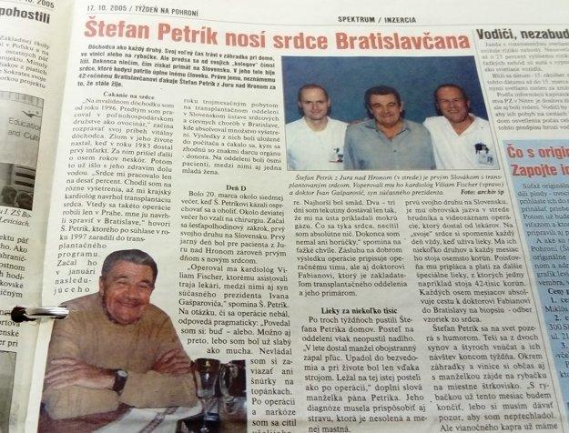 Štefan Petrík, muž s prvým transplantovaným srdcom na Slovensku, bol optimista.