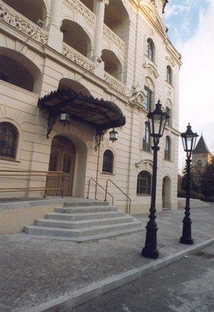Osvetlenie v historickom centre Košíc.