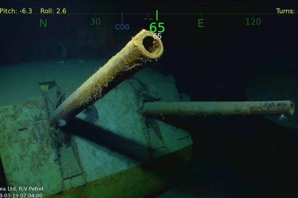 Vrak vojnovej lode USS Juneau.