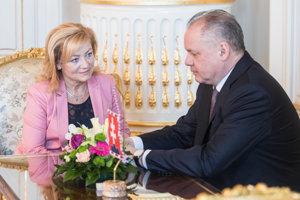 Ľ. Laššáková u prezidenta A. Kisku