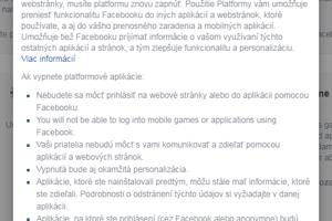 Vypnutie platformy zabezpečí, že aplikácie nebudú mať prístup k vášmu kontu.