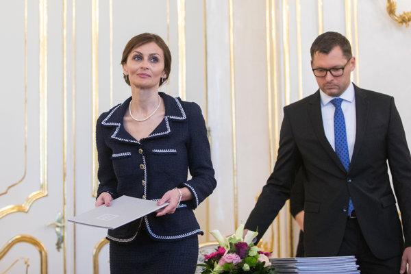 Novovymenovaná ministerka zdravotníctva SR Andrea Kalavská.