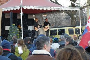 Protest v Prievidzi.
