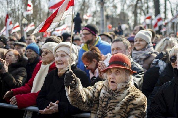 Protesty v Bielorusku.