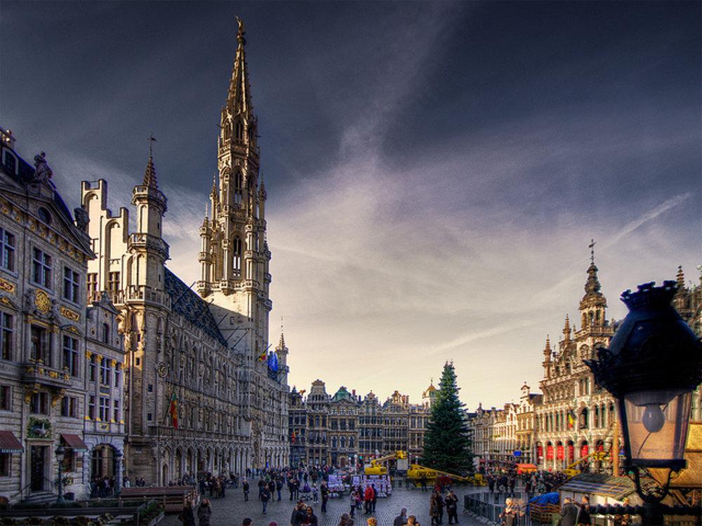 Námestie Grand Place - Grote Markt v Bruseli.