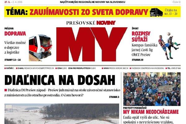 Nové číslo týždenníka MY Prešovské noviny je v predaji od 27. marca.