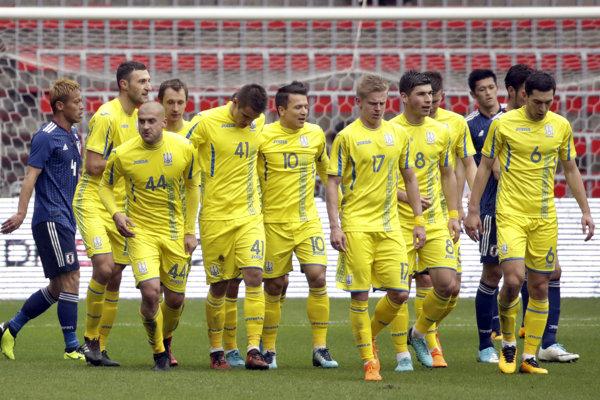 Futbalisti Ukrajiny - ilustračná fotografia.