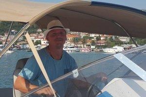 Tibor Jankovský, manžel štátnej tajomníčky Moniky Jankovskej na staršej fotke z Chorvátska.