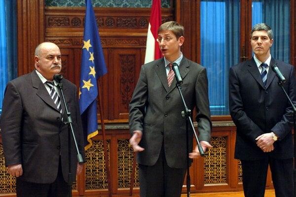 Jószef Kasza (vľavo) na archívnej fotografii z roku 2005.