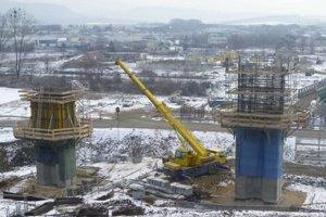 Doterajšie práce na diaľnici v Prešove.