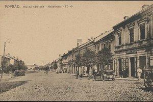 Centrum Popradu.