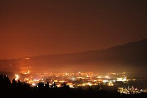 Večer v Krásne nad Kysucou.