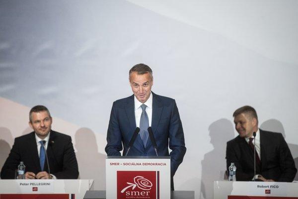 09. december 2017. Richard Raši počas snemu strany Smer v Martine.