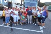 Návrat členov klubu z výletu z Talianska.