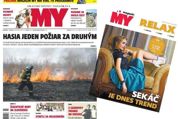 MY Oravské noviny s pravidelným MY magazínom.