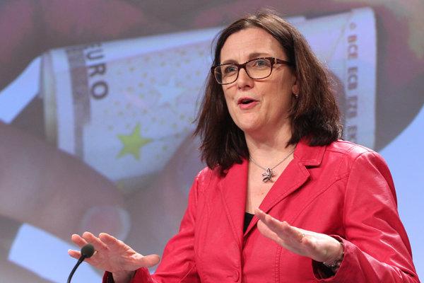 Eurokomisárka pre obchod Cecilia Malmströmová.