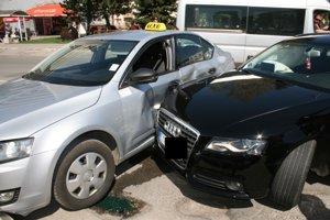 Nehoda v centre Spišskej Novej Vsi.