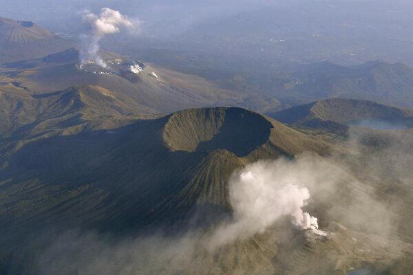 Japonská sopka Iódake.
