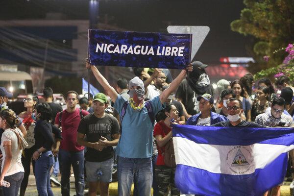 Protesty V Nikarague.