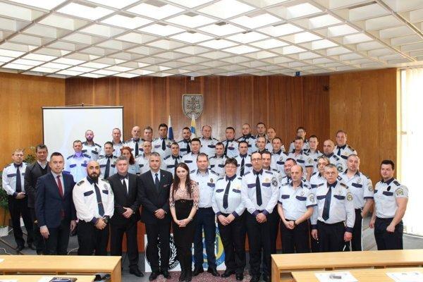 Mestskí policajti z Trebišova.