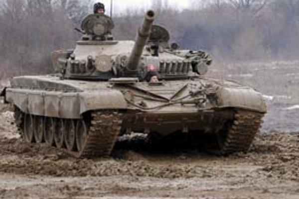 Tank T–72 slovenskej armády.