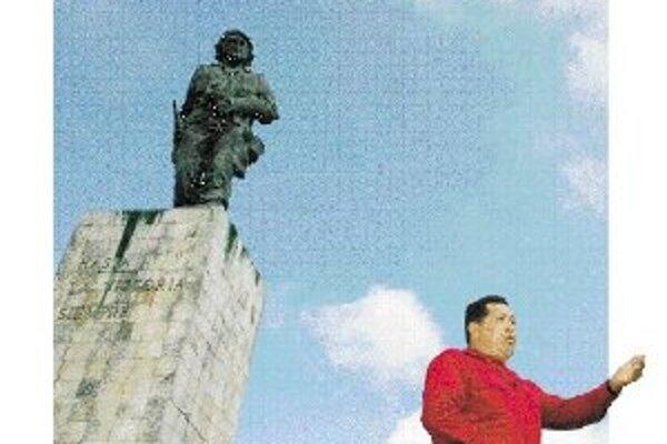 Hugo Chávez stráži Mauzóleum Ernesta Che Guevaru v Santa Clara.