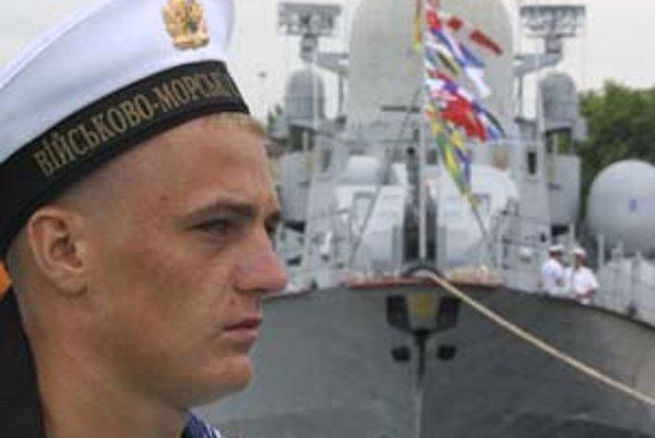 Ukrajinský námorník v Sevastopole.