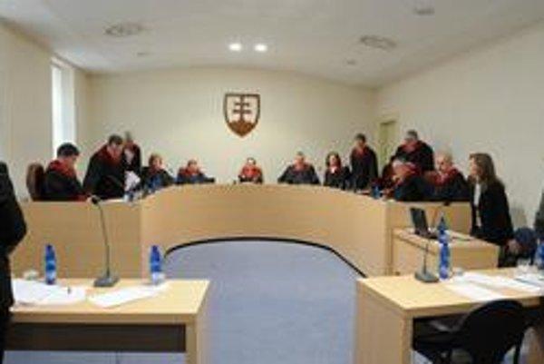 Plénum Ústavného súdu.