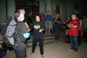 Nočný pochod, štart v Krompachoch