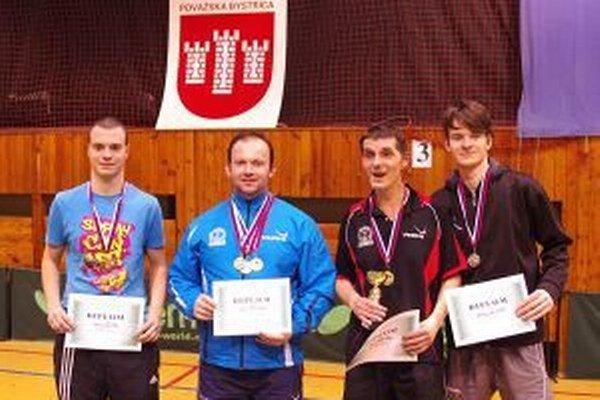 Najlepší v dvojhre. Zľava Janík, Hruboš, Páleník a Gunár.