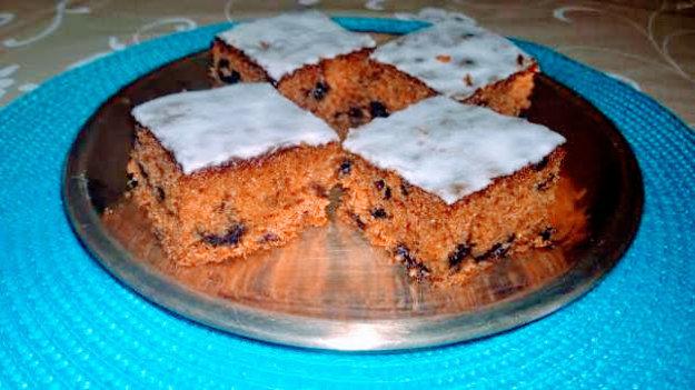 Mrkvovo-čučoriedkový koláč
