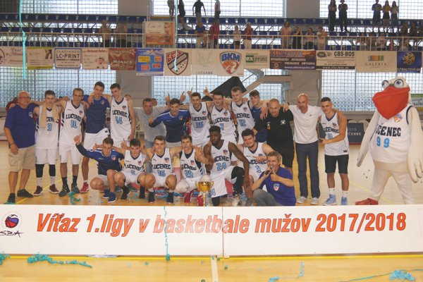 BKM Lučenec - víťaz 1. ligy mužov 2017/18.