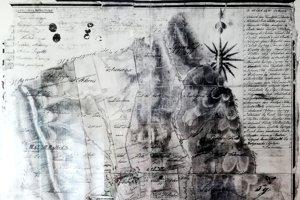 Historická maďarská mapa Kobýl.