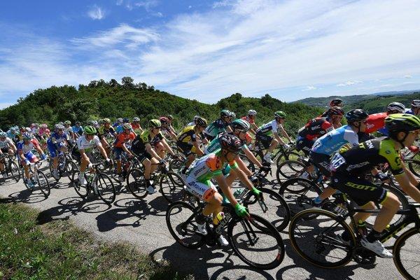 Pelotón na Giro d'Italia.