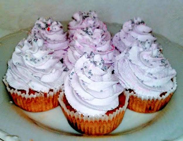 Cupcakes s lesným ovocím