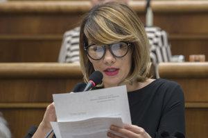 Podpredsedníčka NR SR Lucia Ďuriš -Nicholsonová.