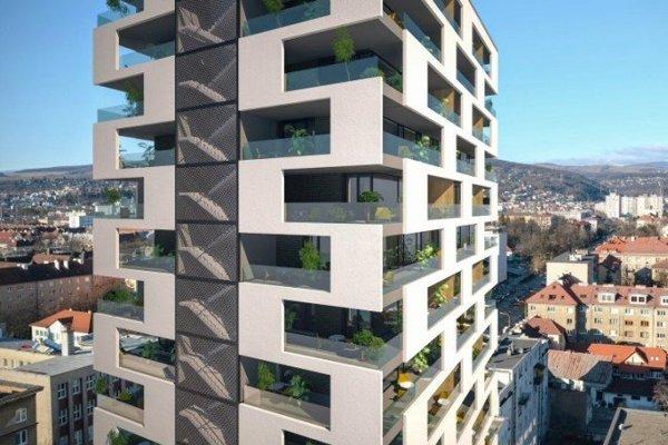 Takto vyzerala pôvodná vizualizácia bytového projektu.