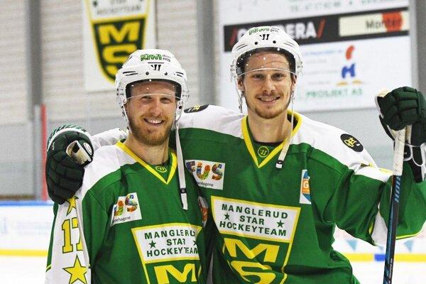 Dylan Richard (vpravo) bol v minulej sezóne najlepším strelcom nórskeho klubu Manglerud.