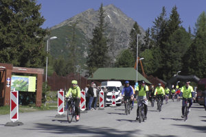 Štart cyklojazdy Od Tatier k Dunaju.
