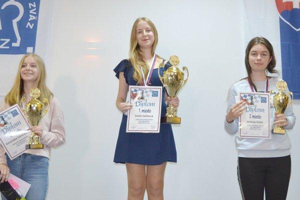 Úspešná Detvianka Sáňková (v strede)