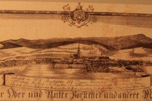 Najstaršia veduta mesta 1817