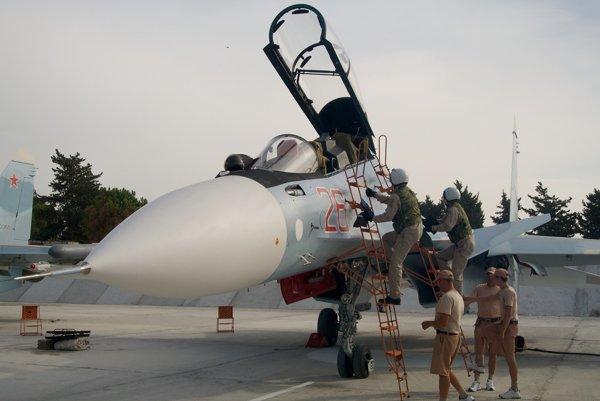 Ruská stíhačka Su-30.