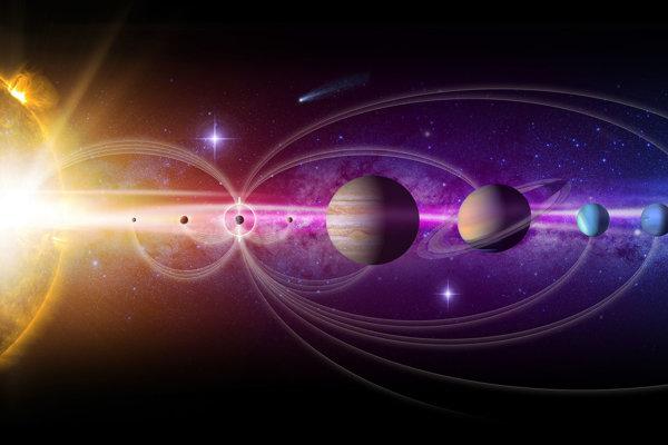 Ilustrácia slnečnej sústavy.