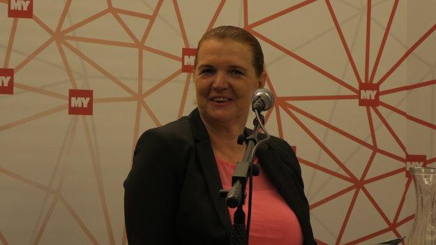 Moderátorka diskusie Jana Paulovská.