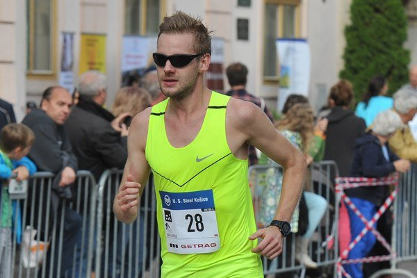Juraj Vitko počas maratónu.