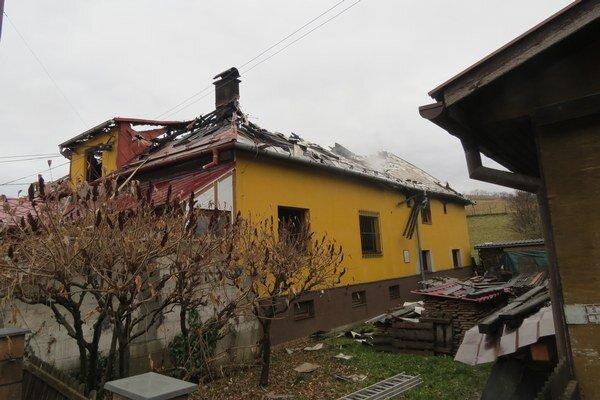 Požiar pohostinstva v Poluvsí.