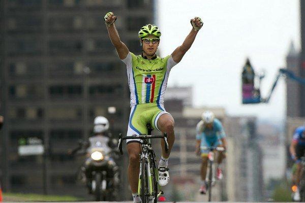 Peter Sagan si mohol znovu vychutnať víťazné gesto.