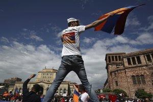 Protesty v Jerevane.