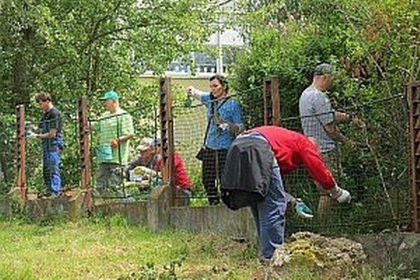 Vďaka dobrovoľníkom je na plote nový náter.