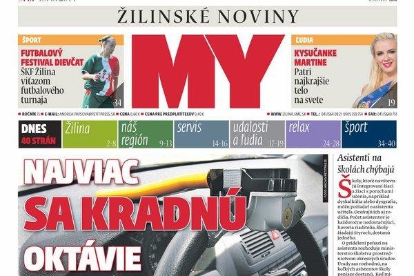 Nové číslo týždenníka MY Žilinské noviny vychádza už v pondelok.
